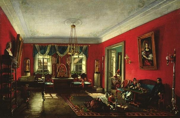 The Nashchokin family in drawing room