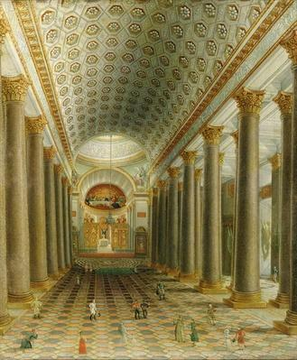 Interior view of the Kazan Cathedral in St. Petersburg