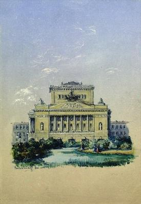 The Alexander Theatre in St. Petersburg, 1841