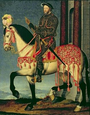 Equestrian portrait of Francis I of France