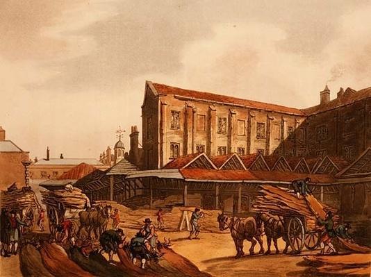 Leadenhall Market, from Ackermann's 'Microcosm of London'