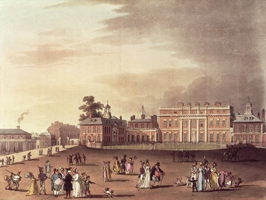 Queen's Palace, St. James's Park, from Ackermann's 'Microcosm of London'