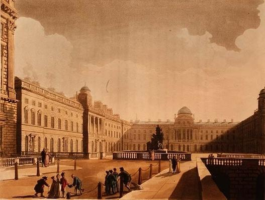 Somerset House, the Strand from Ackermann's 'Microcosm of London' Vol III, Published in 1809