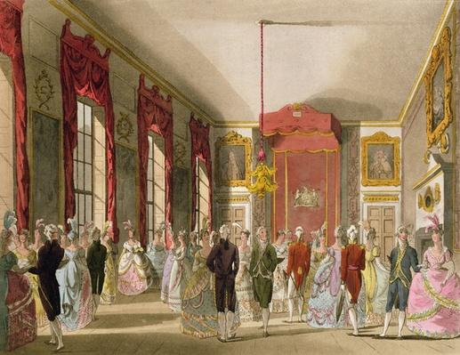 Drawing Room, St. James's, from Ackermann's 'Microcosm of London'