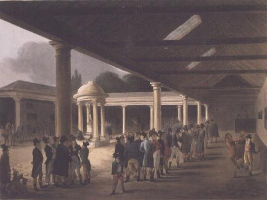 Tattersalls Horse Repository from Ackermann's 'Microcosm of London'