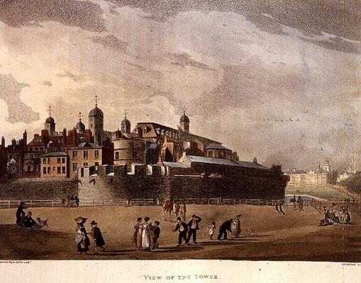 View of the Tower, from Ackermann's 'Microcosm of London', Volume III, Pub. 1809