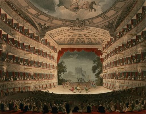New Covent Garden Theatre, 1810, from 'Ackermann's Microcosm of London'