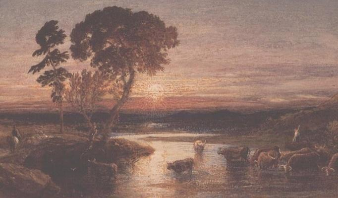 Going to the Fold, Sunset, 1879