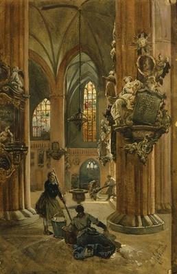 Interior of the Church of St. Nicholas, Berlin, 1886