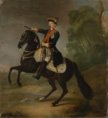 Kurt Christoph Graf von Schwerin on horseback, 1750