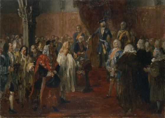 Silesian homage scene, 1855