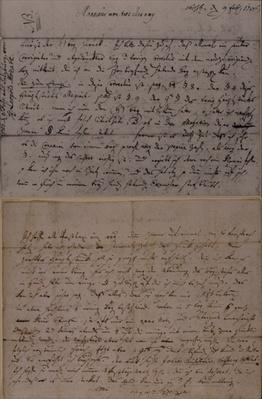 Letter from Leopold Mozart informing J.J. Lotter of the birth of his son, Amadeus Mozart, 9th February 1756