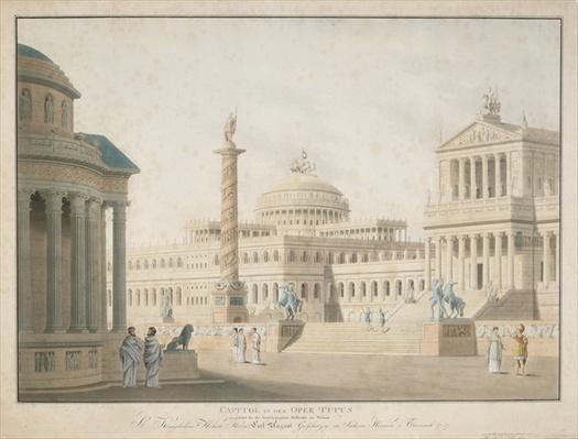 Capitol, set for 'La clemeza di Tito' designed by Beuther, 1815