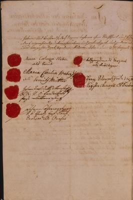 Marriage certificate of Wolfgang Amadeus Mozart and Constanze Weber, 1782
