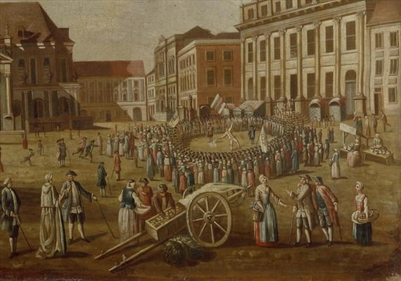 Street performers in the Alter Markt, 1771