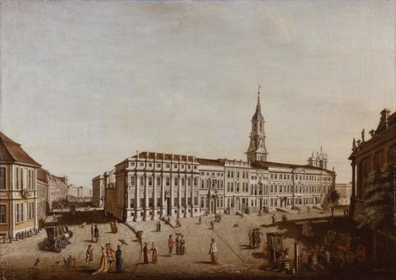 View of Castle Street and the Fiaker Square, Potsdam, 1773