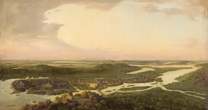 View of Potsdam in the 17th century, 1851