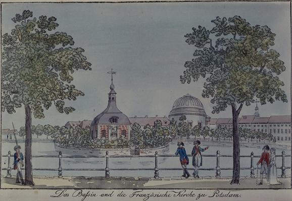 The Pool and French Church in Potsdam, c.1796