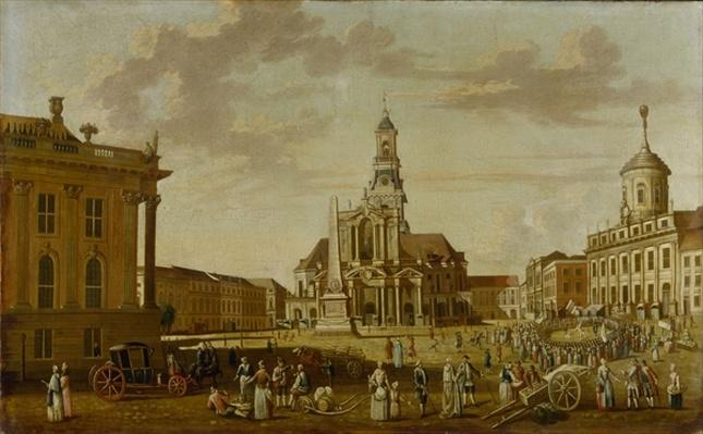 The Alter Markt with the Church of St. Nicholas and the Town Hall, 1771