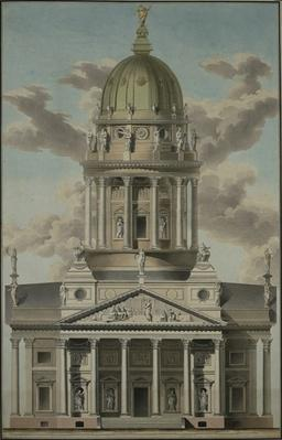 The German Cathedral on the Gendarmenmarkt, 1812