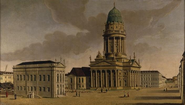 The Gendarmenmarkt with the French Playhouse and Cathedral, Berlin, 1788