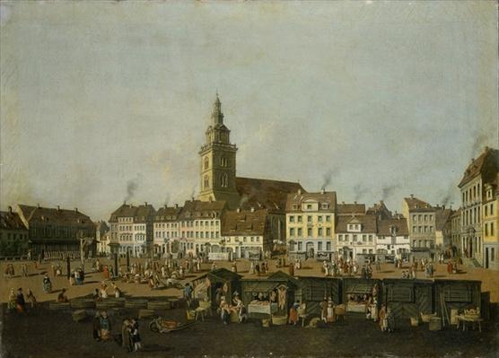 View of the Neue Markt with St. Mary's Church, Berlin, c.1770