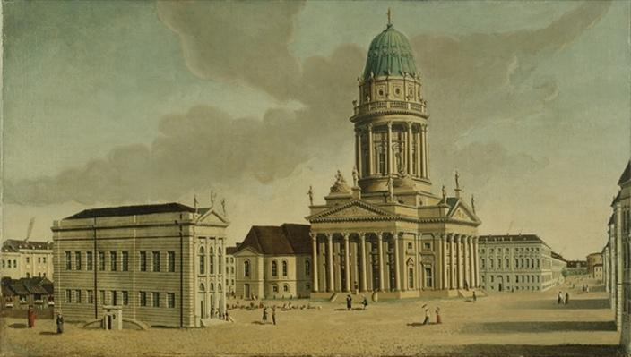 View of the Gendarmenmarkt with the French playhouse and cathedral, Berlin, 1788