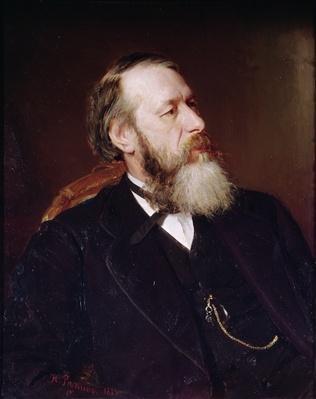 Portrait of V.V. Slasows, 1873