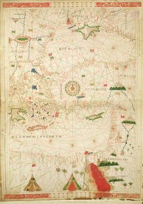 The Eastern Mediterranean, from a nautical atlas, 1520