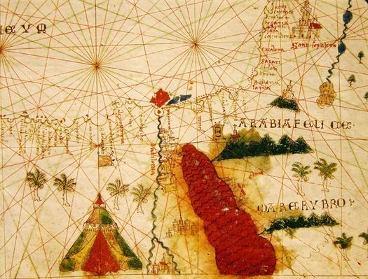 The Red Sea, from a nautical atlas, 1520