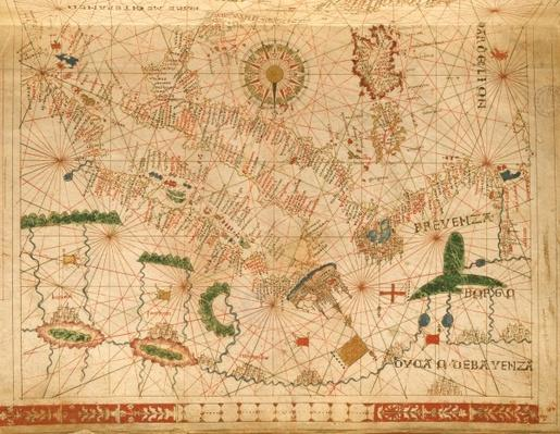 Provence and Italy, from a nautical atlas, 1520
