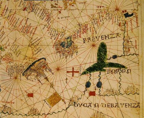 Provence and Northern Italy, from a nautical atlas, 1520
