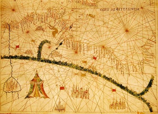 North Africa, from a nautical atlas, 1520