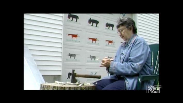 Wooden Animals: Minnie Adkins