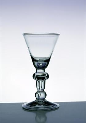 Baluster stem goblet, c.1700-20