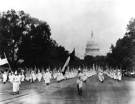 a history of ku klux klan a racist group When the kkk was mainstream : npr history dept ku klux klan members hold a march in washington what were some of the group's other seemingly.