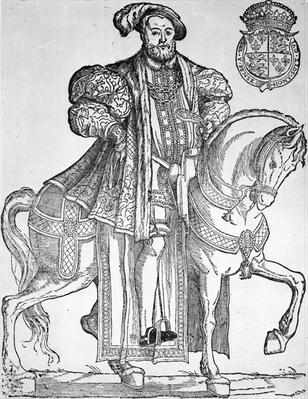 King Henry VIII on horseback