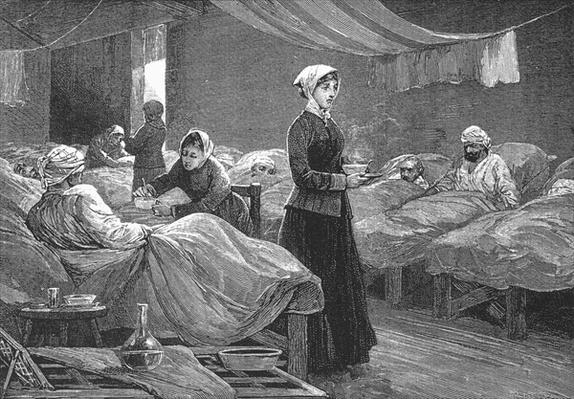 Miss Nightingale in the Barrack Hospital at Scutari, c.1880