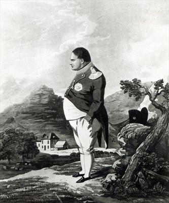 Napoleon on the island of St. Helena, 1820
