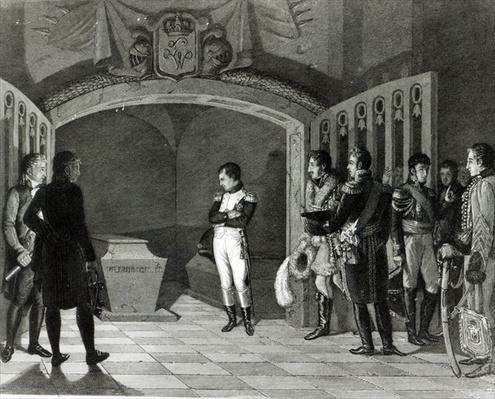 Napoleon Meditating before the Tomb of Frederick II of Prussia in the crypt of the Garnisonkirche in Potsdam, c.1810