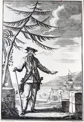 Captain Teach, commonly called Blackbeard, c.1734