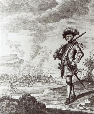 Captain Henry Morgan at the sack of Panama in 1671, c.1734