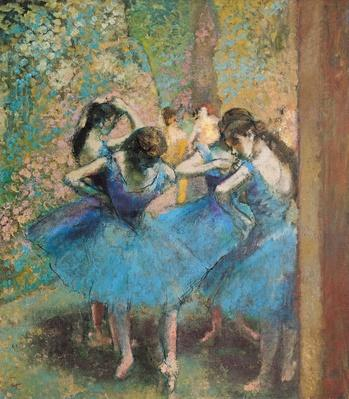 Dancers in blue, 1890