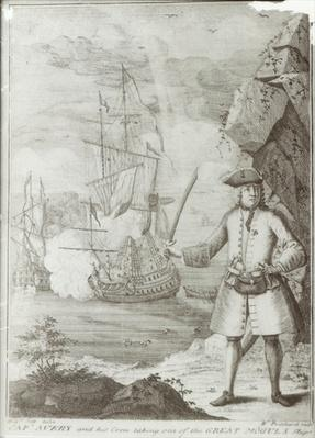 Captain Avery capturing the 'Ganj-i-Sawai' on 8th September 1695