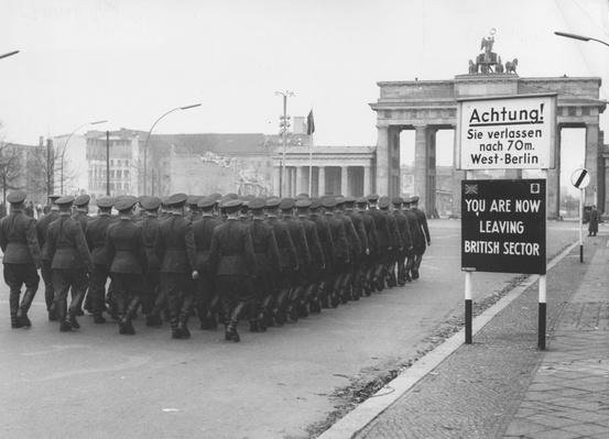 Soldiers At Wall | Berlin Wall | The 20th Century Since 1945: Postwar Politics