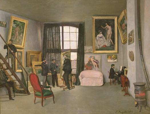 The Artist's Studio, 1870 by Bazille, Jean Frederic (1841-70)