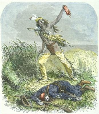 Indian Scalping the Dead Enemy, 1867