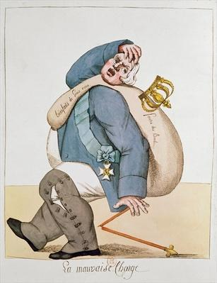 Caricature of Louis XVIII