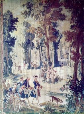 The Hunt of Louis XV, tapestry, mid 18th century