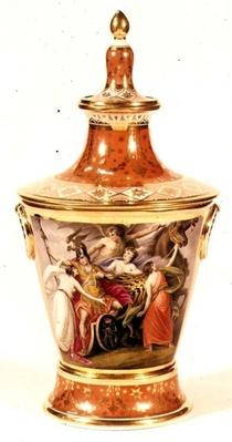 Worcester vase painted by Thomas Baxter, c.1820
